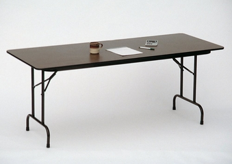 """Solid Plywood Folding Table 18"""" x 96"""" - Correll Office Furniture - PC1896P"""