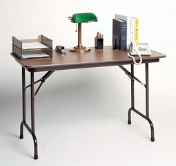 """Solid Plywood Folding Table 24"""" x 48"""" - Correll Office Furniture - PC2448P"""