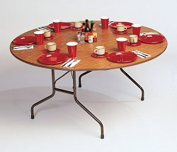 """Solid Plywood Folding Table 60"""" Round - Correll Office Furniture - PC60P"""