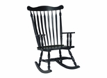 Solid Wood Rocker in Antique Black - R37-120
