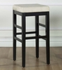 "Sonata 26"" Stationary Barstool in Beige Microfiber / Black - Armen Living - LCSTBAMFBE26"