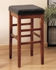 "Sonata 26"" Stationary Barstool in Brown Leather - Armen Living - LCSTBACHBR26"