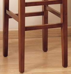 """Sonata 26"""" Stationary Barstool in Brown Leather - Armen Living - LCSTBACHBR26"""