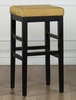 "Sonata 26"" Stationary Barstool in Yellow Microfiber / Black - Armen Living - LCSTBAMFYE26"