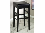 "Sonata 30"" Stationary Barstool in Black Leather - Armen Living - LCSTBABLBL30"
