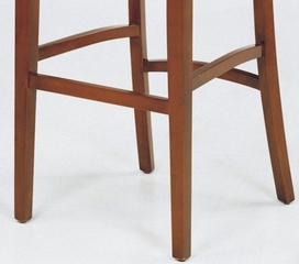 Sonora Stationary Barstool in Brown Leather / Cherry - Armen Living - LCSNBACHBR