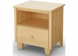 South Shore Clever Room 1 Drawer Nightstand in Natural Maple - 3613062