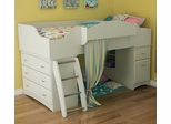 South Shore Imagine Loft Bed in Pure White - 3560A3