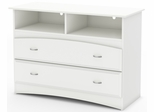 South Shore Imagine Media Chest in Pure White - 3560043
