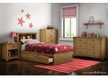 South Shore Jumper Twin 5 Piece Bedroom Set - Harvest Maple Finish - 3326212