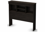 South Shore Quilliams Twin Bookcase Headboard in Ebony - 3377098