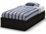 South Shore Quilliams Twin Mates Bed in Ebony - 3377212