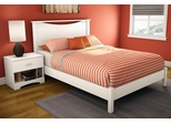 South Shore Step One Full 3pc Platform Bed Set in Pure White - 3160090