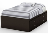 South Shore Step One Full Captains Bed - Chocolate Finish - 3159209