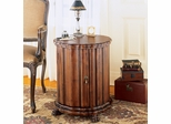 Specialty Cherry Mahogany Drum Table With Door - Free Shipping