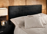 Springfield Twin Size Upholstered Headboard with Frame in Black Vinyl - Hillsdale Furniture - 1612HTWR