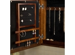 Square Wall Mount Jewelry Armoire in Espresso - Holly and Martin