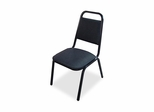 Stacking Chair - Black/Black Frame - LLR62512