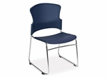 Stacking Chair - MultiUse Plastic Seat and Back Stacker (Set of 4) - OFM - 310-P-SET