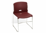 Stacking Chair - Plastic Seat and Back Stack Chair (Set of 4) - OFM - 320-P-SET