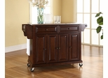 Stainless Steel Top Kitchen Cart/Island in Vintage Mahogany - CROSLEY-KF30002EMA