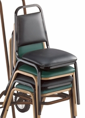 Standard Vinyl Padded Stack Chair - National Public Seating - 9100