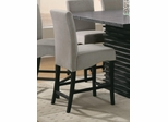 "Stanton 24"" Bar Stool (Set of 2) in Gray - Coaster - 102069GRY-SET"