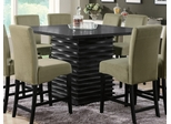 Stanton Counter Height Table in Rich Black - Coaster - 102068