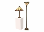 Stanton Mission Table & Torchiere Set - Dale Tiffany
