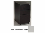 Stationary File Cabinet in Light Gray - Mayline Office Furniture - P243GV1