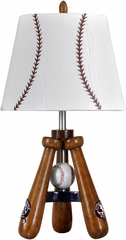 Stylecraft Baseball Theme Lamp with Bat and Ball Stand