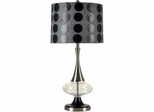 Stylecraft Steel and Glass Table Lamp