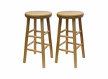"Swivel 24"" Stool - Set of 2 - Winsome Trading - 88824"