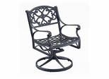 Swivel Arm Chair in Black - Home Styles - 5554-53