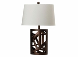 Table Lamp with White Fabric Shade - 901256