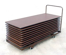 """Table Truck for Rectangular Tables - Flat Stack 30"""" x 72"""" - Correll Office Furniture - T3072"""