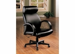 Tall Office Chair in Black Leather - Coaster