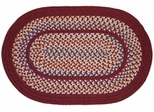Tapestry Red Wine 6' Round Braided Rug - Rhody Rug - TA-426RDRW