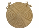 "Tapestry Wheat 15"" Braided Chair Pad - Rhody Rug - TA-5215CPWH"