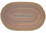 Tapestry Wheat 2'x3' Braided Rug - Rhody Rug - TA-5223WH