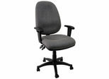 Task Office Chair with Grey Fabric and Dual Control with Arms - BT-661-GR-GG
