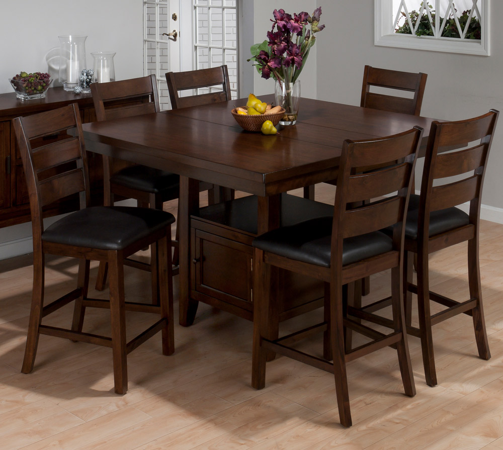 Homelegance westwood 7pc counter height homelegance for Counter height dining set