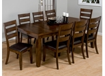 Taylor 9-Piece Dining Table Set in Brown Cherry - 337-84