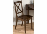 Taylor Cherry X Back Chair - Set of 2 - 342-915KD
