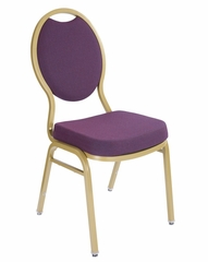 Tear Drop Back Banquet Stack Chair (Set of 4) - National Public Seating - 9500-G-SET