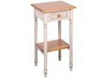 Telephone Table with Drawer in Antique White and Cherry - Office Star - CC04