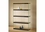 Tempered Glass Display Cabinet in Black - 800305