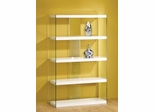 Tempered Glass Display Cabinet in White - 800306