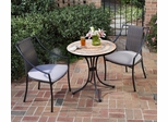 Terra Cotta Bistro Table and 2 Laguna Dining Arm Chairs - Home Styles - 5603-340