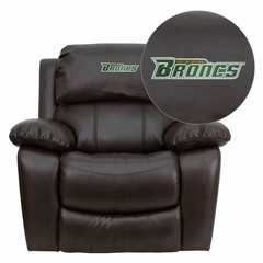 Texas - Pan American Broncos Embroidered Brown Leather Rocker Recliner  - MEN-DA3439-91-BRN-41100-EMB-GG